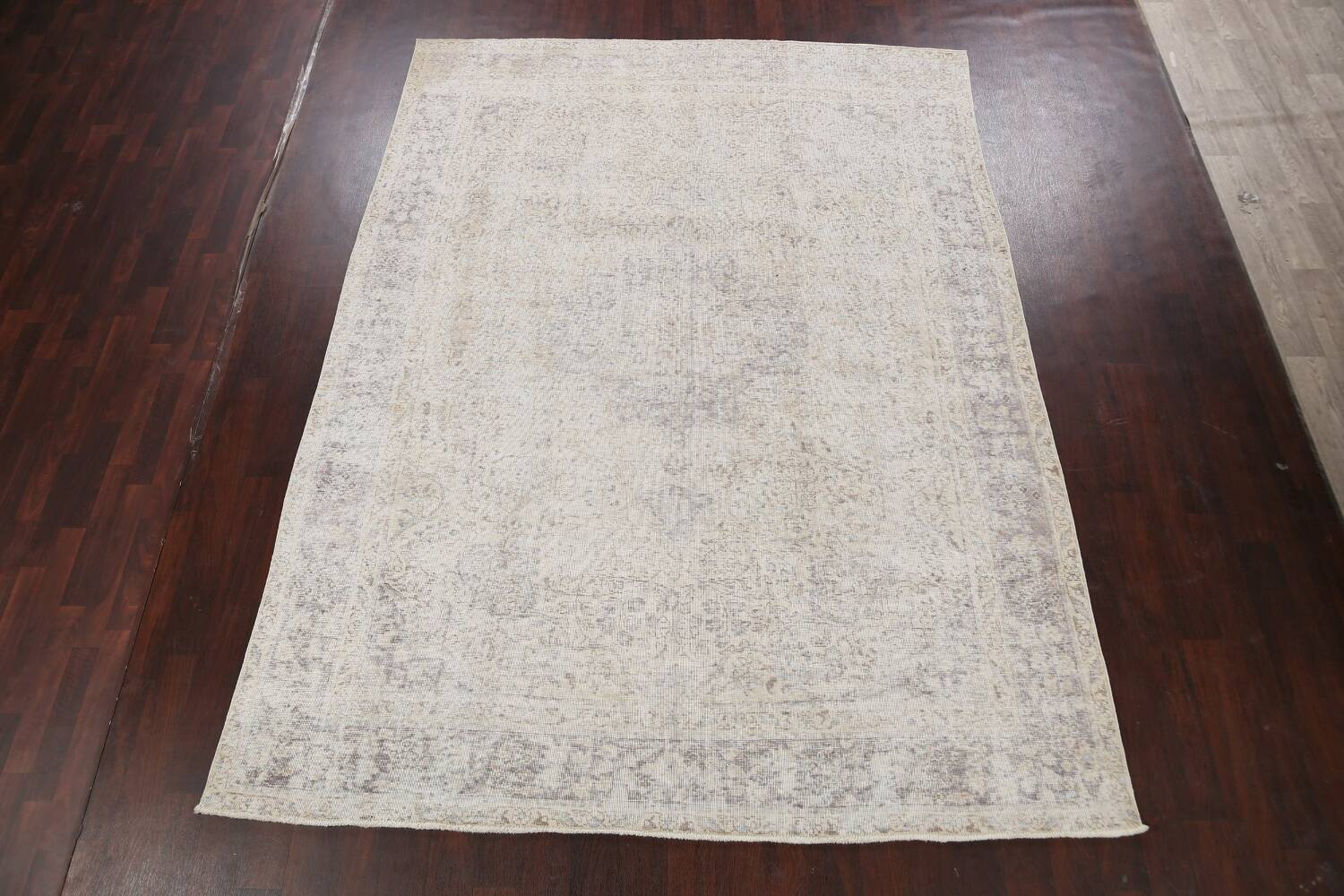 Muted Distressed Tabriz Persian Area Rug 8x11 image 2