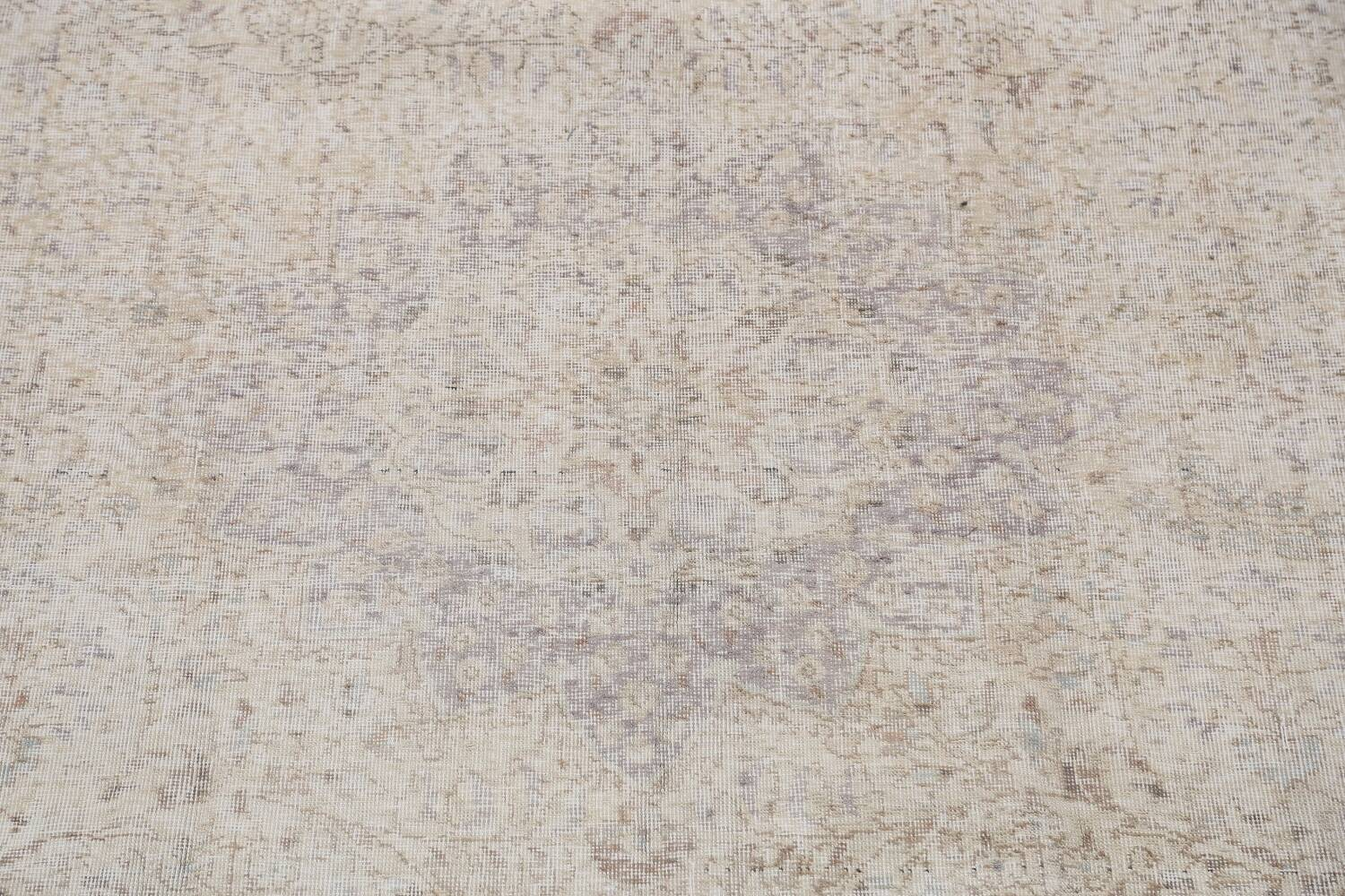 Muted Distressed Tabriz Persian Area Rug 8x11 image 4