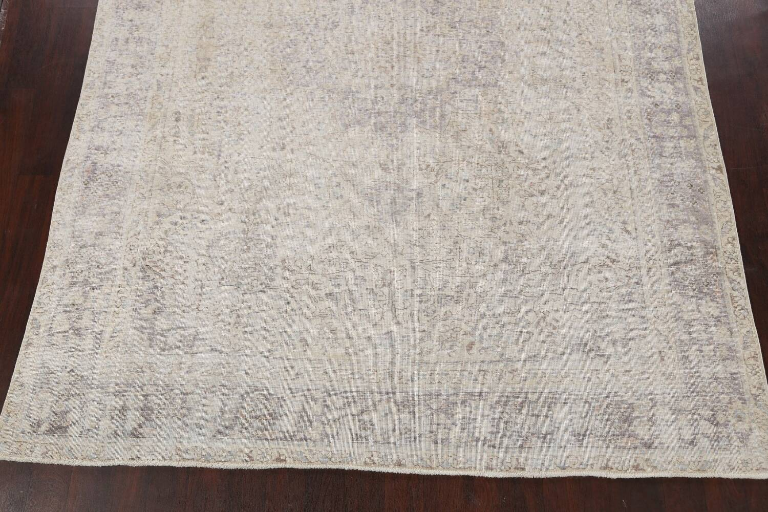 Muted Distressed Tabriz Persian Area Rug 8x11 image 8