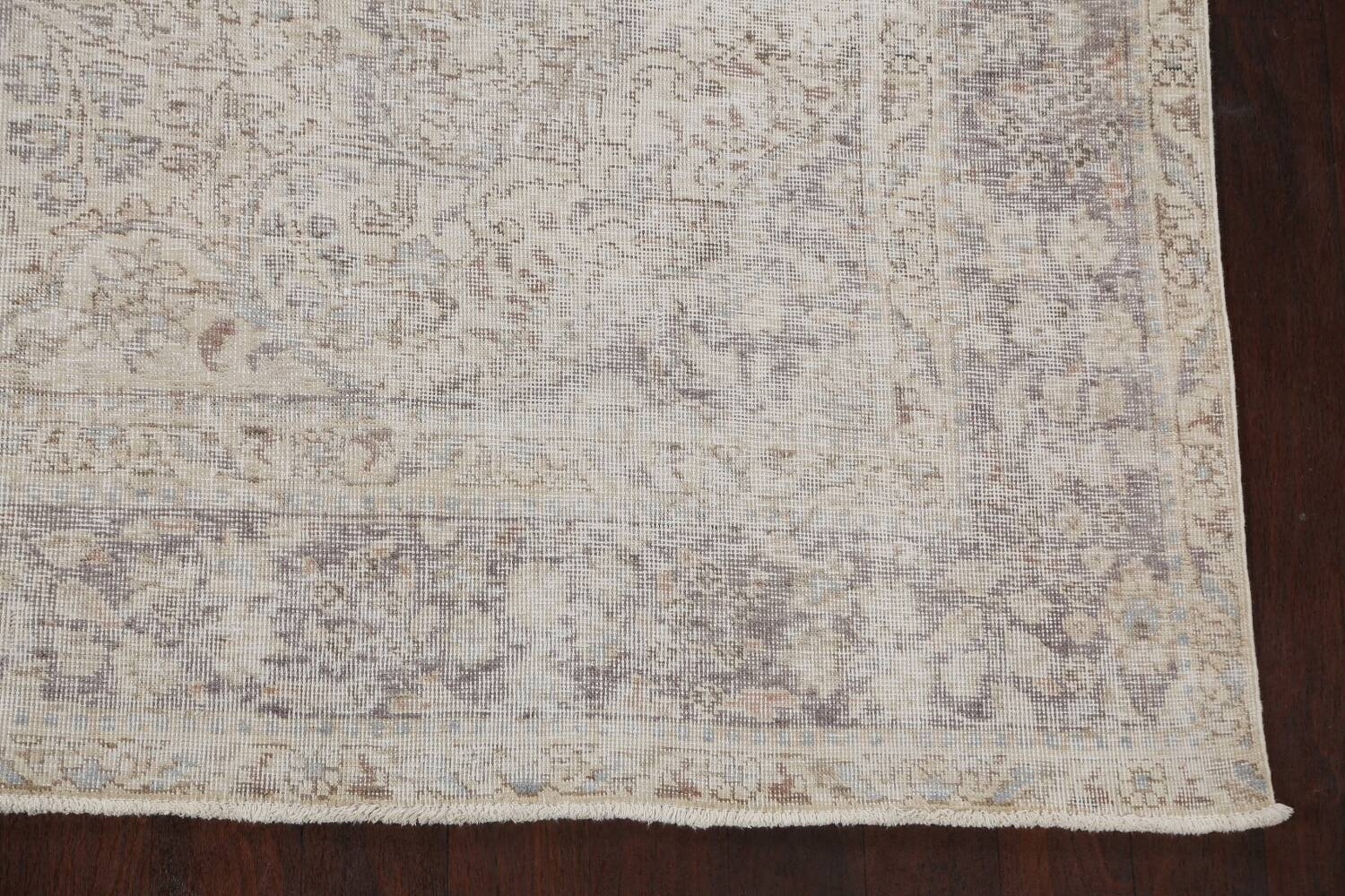 Muted Distressed Tabriz Persian Area Rug 8x11 image 5