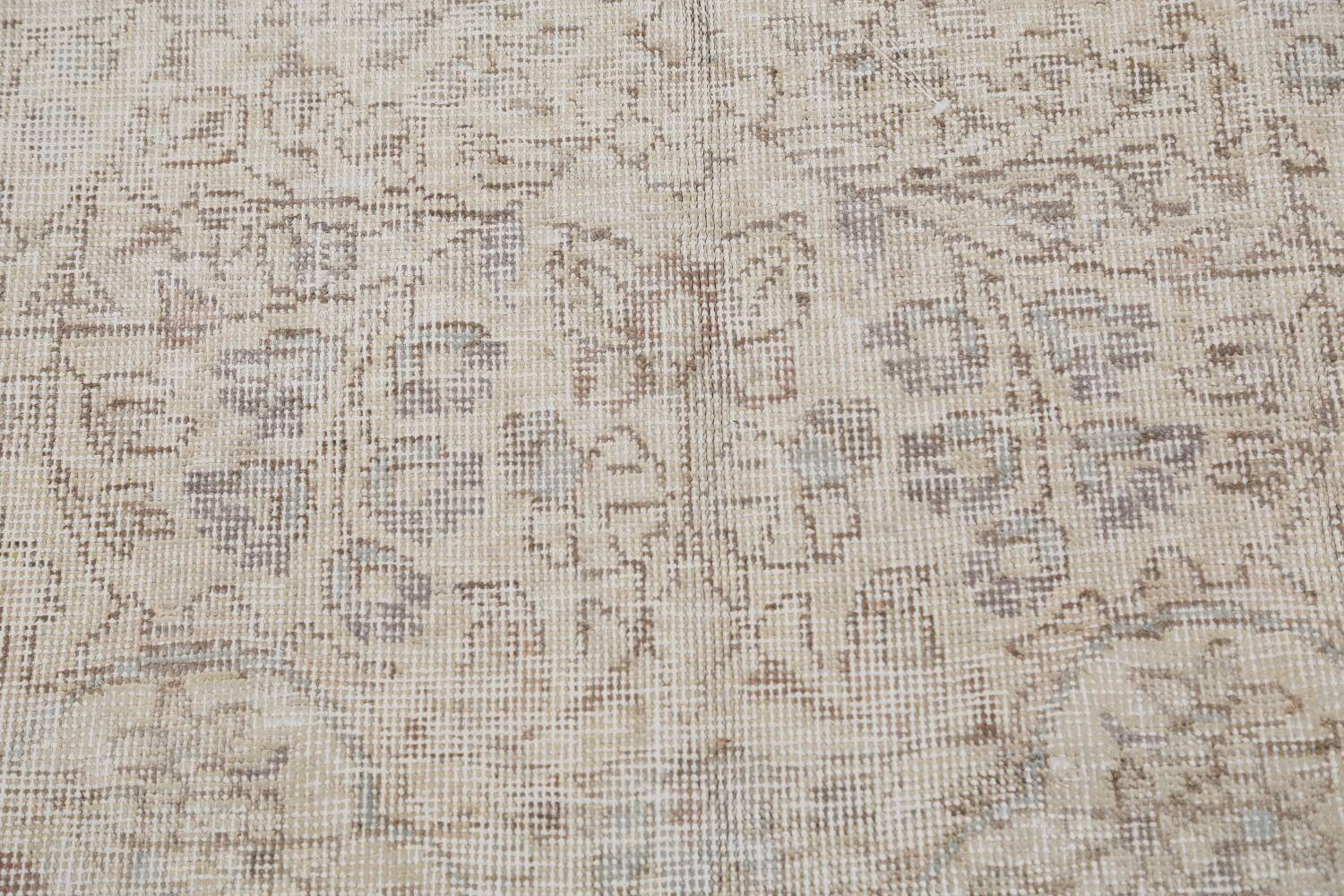 Muted Distressed Tabriz Persian Area Rug 8x11 image 9