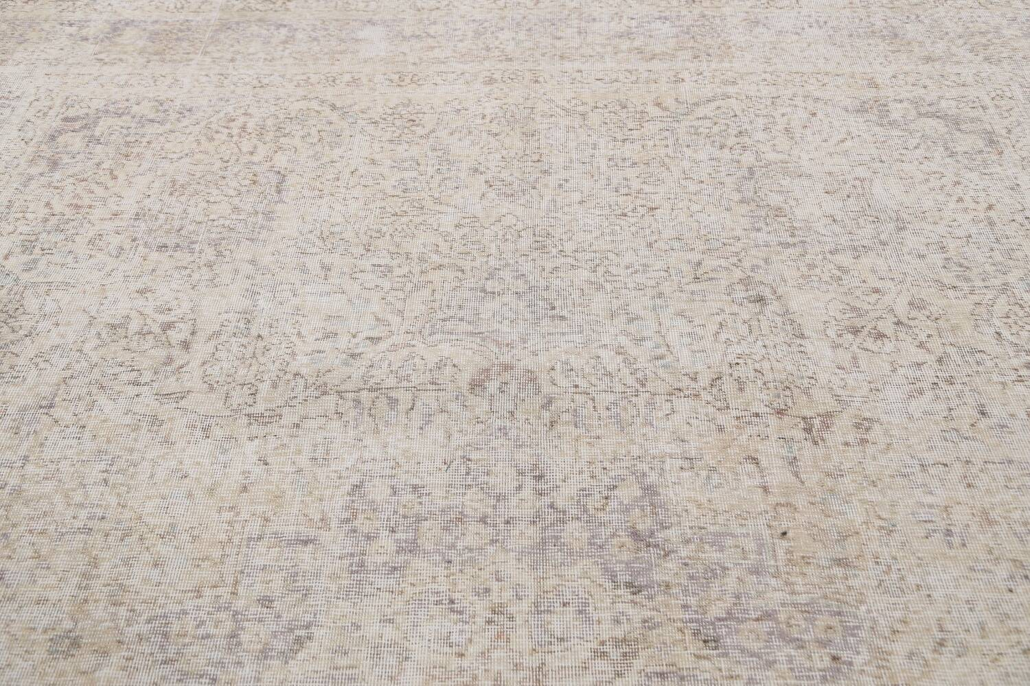 Muted Distressed Tabriz Persian Area Rug 8x11 image 12