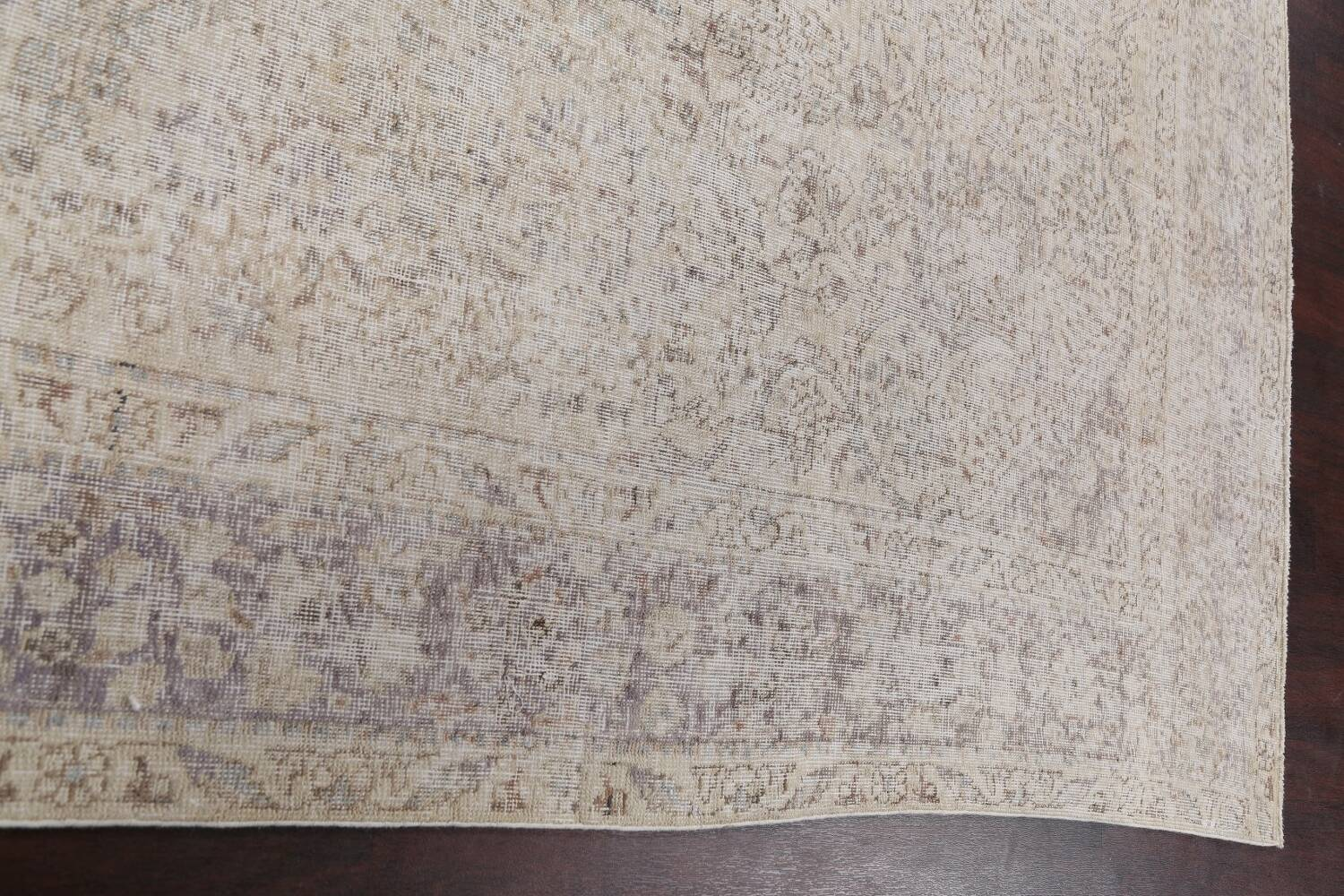 Muted Distressed Tabriz Persian Area Rug 8x11 image 13