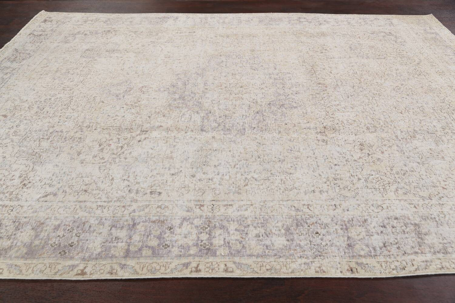 Muted Distressed Tabriz Persian Area Rug 8x11 image 14