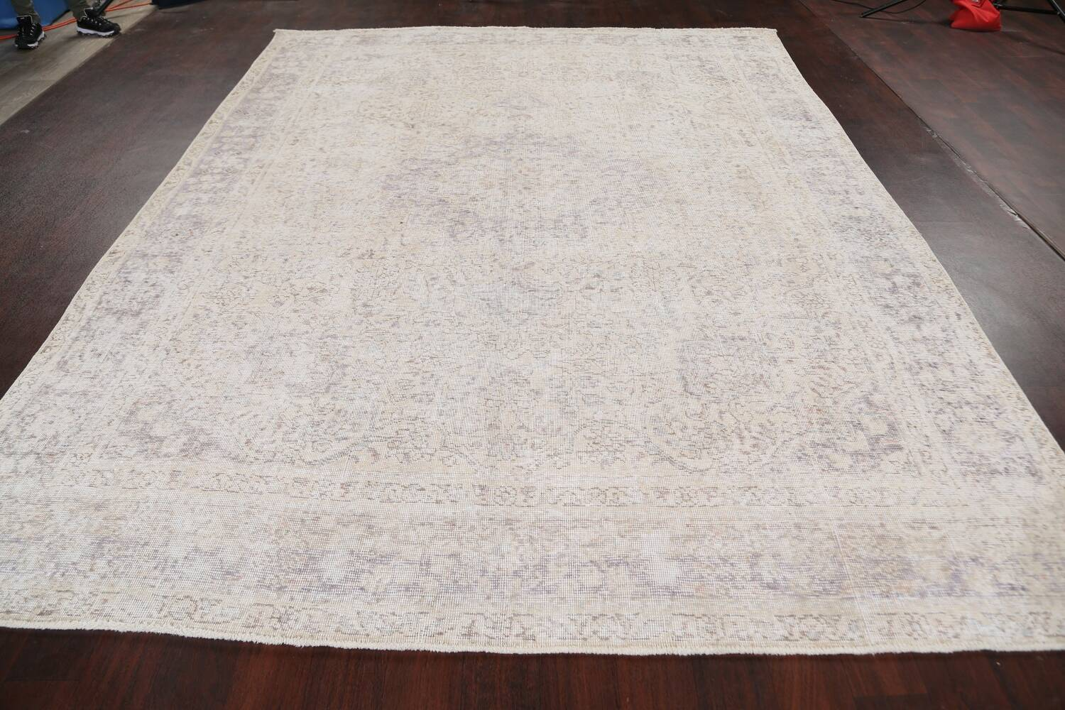 Muted Distressed Tabriz Persian Area Rug 8x11 image 15