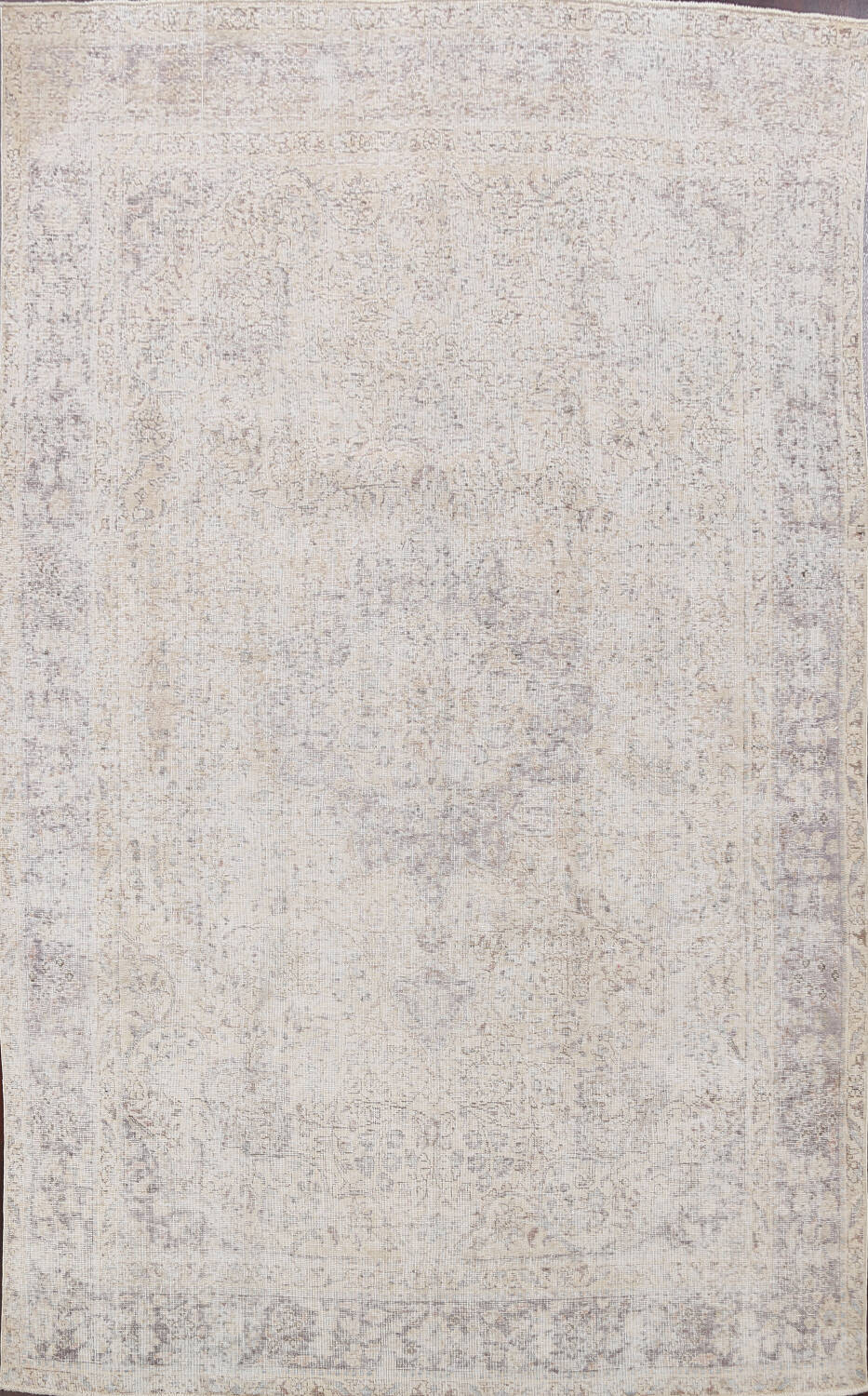 Muted Distressed Tabriz Persian Area Rug 8x11 image 1