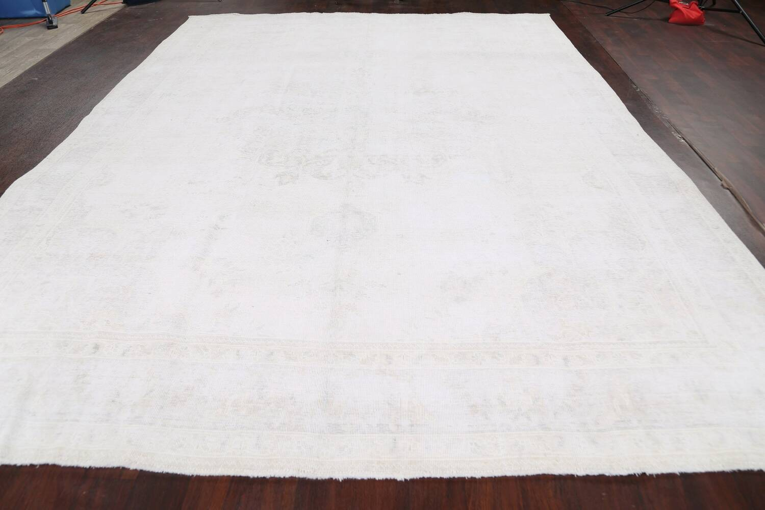 Antique Muted Tabriz Persian Area Rug 9x13 image 14