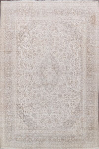 Muted Floral Tabriz Persian Area Rug 10x12