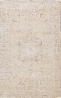 Muted Distressed Tabriz Persian Area Rug 6x10