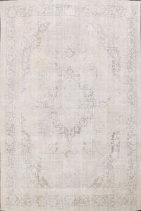 Muted Distressed Tabriz Persian Area Rug 8x11