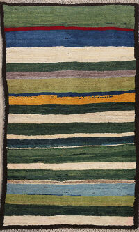 Striped Gabbeh Persian Area Rug 3x4