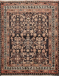 Geometric Malayer Persian Area Rug 4x5