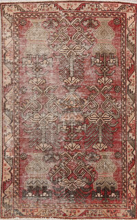 Distressed Bakhtiari Persian Area Rug 4x6