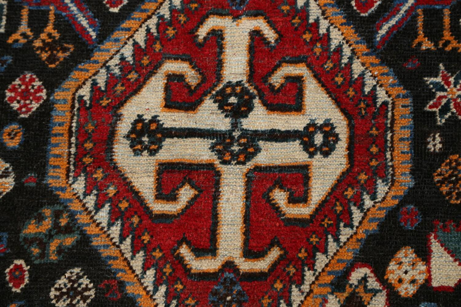 Antique Pre-1900 Tribal Bakhtiari Persian Area Rug 4x5 image 10