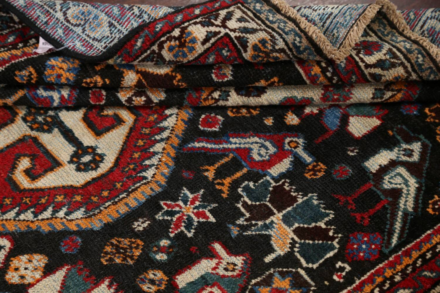 Antique Pre-1900 Tribal Bakhtiari Persian Area Rug 4x5 image 15