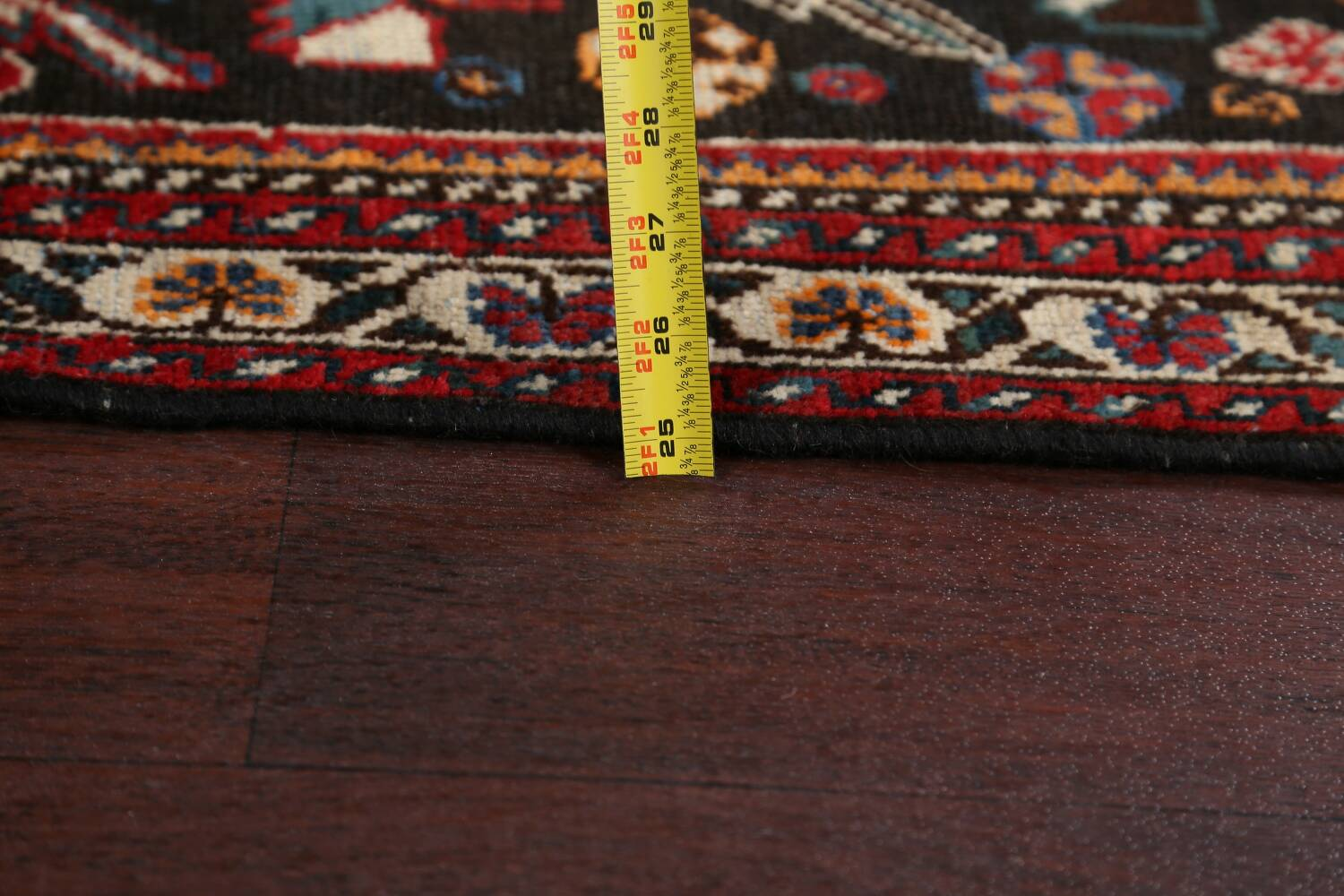 Antique Pre-1900 Tribal Bakhtiari Persian Area Rug 4x5 image 18