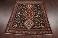 Antique Pre-1900 Tribal Bakhtiari Persian Area Rug 4x5 image 14