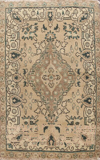 Geometric Tabriz Persian Area Rug 3x5