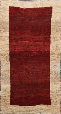 Bordered Gabbeh Persian Area Rug 3x6