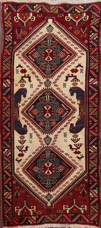 Tribal Shiraz Persian Area Rug 3x6
