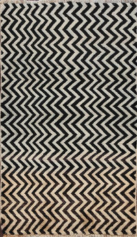 Chevron Gabbeh Persian Area Rug 3x5