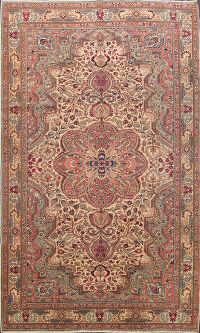 Turkish Anatolian Oriental Area Rug 7x9