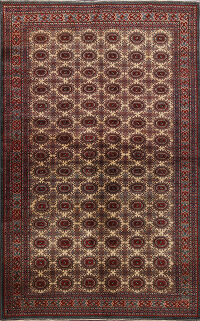 Turkish Anatolian Oriental Area Rug 5x7