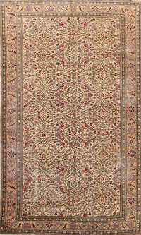 Antique Vegetable Dye Anatolian Turkish Area Rug 6x10
