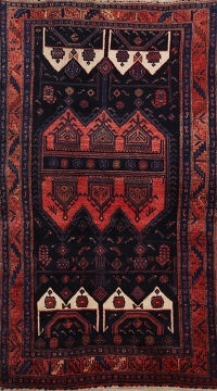 Geometric Bidjar Persian Area Rug 4x7
