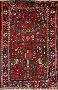 100% Vegetable Dye Bakhtiari Persian Area Rug 5x7