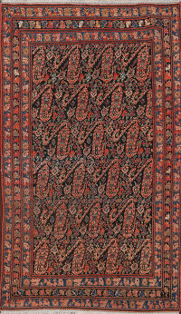 Pre-1900 Antique Vegetable Dye Malayer Persian Area Rug 4x7