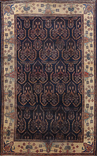 Pre-1900 Antique Sarouk Persian Area Rug 8x12