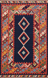 Geometric Kilim Persian Area Rug 5x8
