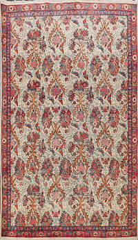 Animal Pictorial Sarouk Persian Area Rug 7x10
