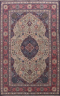 Antique Tabriz Vegetable Dye Persian Area Rug 7x10