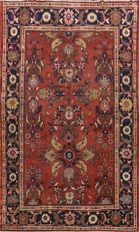 Pre-1900 Antique Mahal Persian Area Rug 8x12