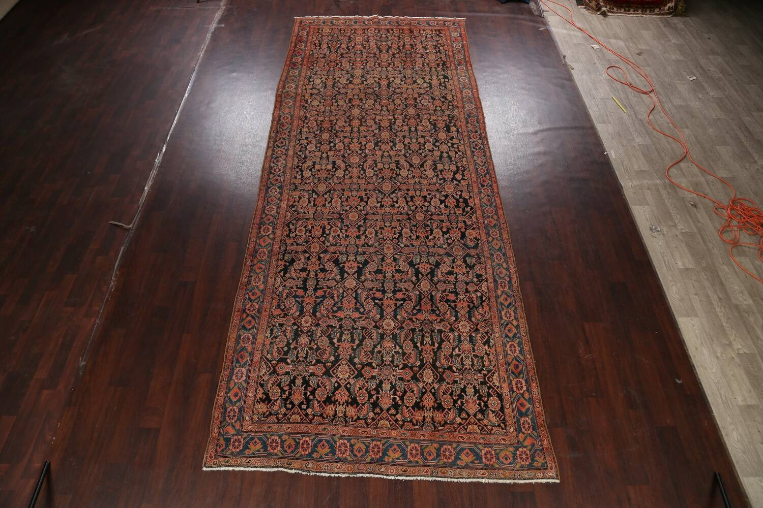 Pre-1900 Antique Malayer Persian Runner Rug 6x16 image 2