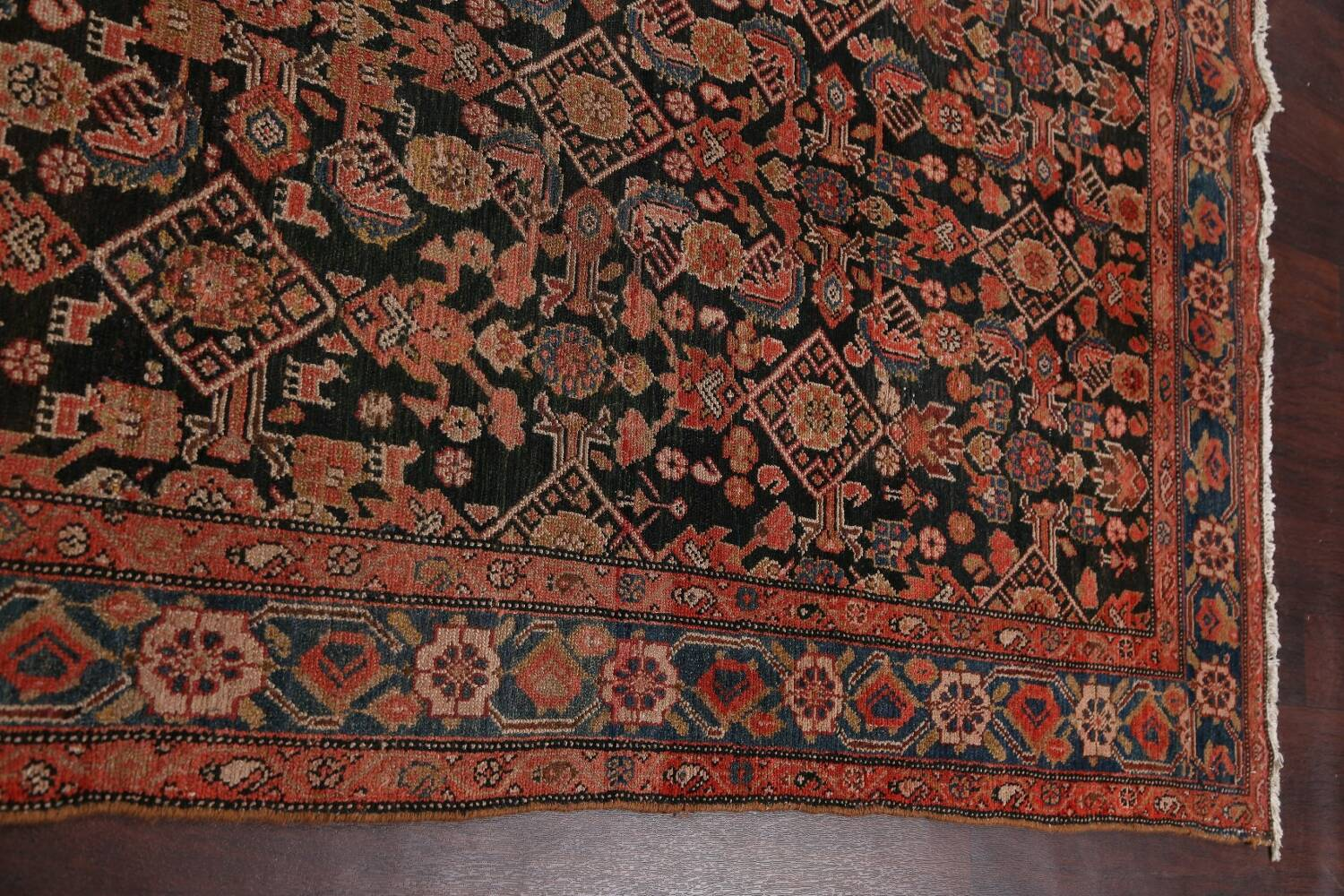 Pre-1900 Antique Malayer Persian Runner Rug 6x16 image 12