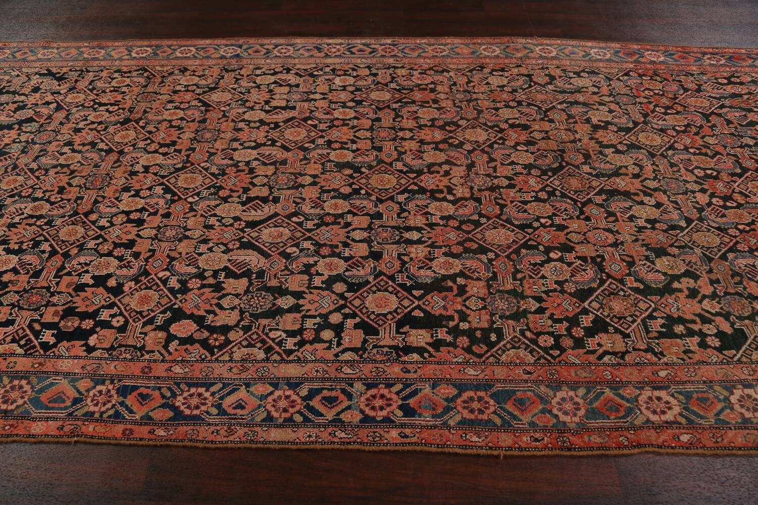 Pre-1900 Antique Malayer Persian Runner Rug 6x16 image 13