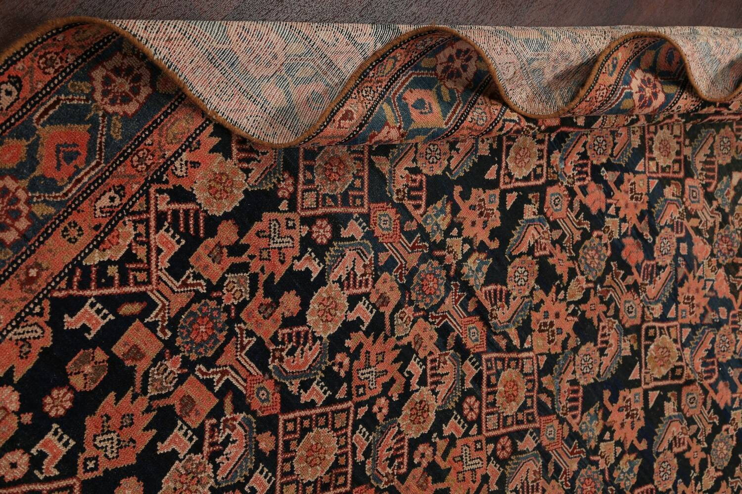 Pre-1900 Antique Malayer Persian Runner Rug 6x16 image 16