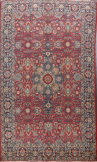 Antique Khoy Tabriz Vegetable Dye Persian Area Rug 7x11