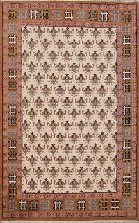 All-Over Boteh Botemir Oriental Area Rug 5x7