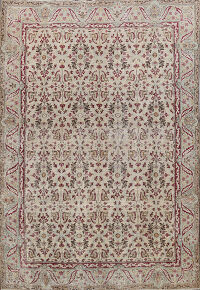 Antique Vegetable Dye Kerman Lavar Persian Area Rug 8x11