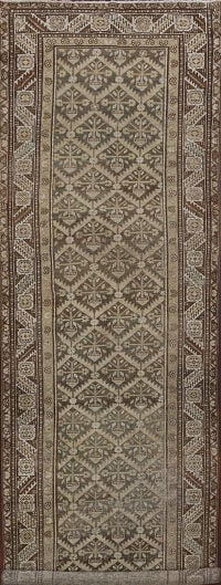 Pre-1900 Antique Malayer Persian Runner Rug 3x13