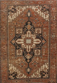Pre-1900 Antique Heriz Serapi Persian Area Rug 10x13