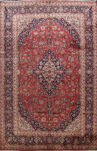 Kashan Persian Area Rug 10x14