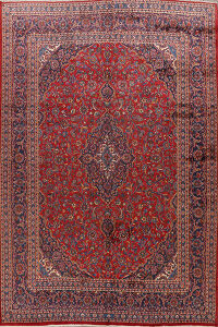 Traditional Mashad Persian Area Rug 9x12
