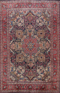 Animal Pictorial Kashmar Persian Area Rug 8x11