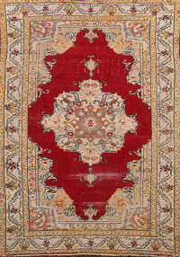 Pre-1900 Antique Anatolian Turkish Area Rug 5x6