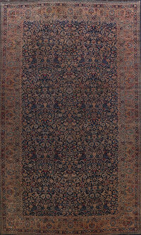 Pre-1900 Antique Kerman Persian Area Rug 12x21 Large